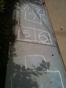 Hopscotch game with fun alternatives